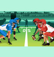 football players in a match vector image vector image