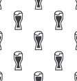 glass beer seamless pattern vector image vector image