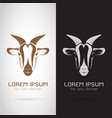 goat head design on white background and black vector image