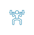 gym exercises linear icon concept gym exercises vector image vector image
