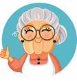 happy grandma making appreciation gesture vector image
