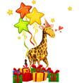 happy party giraffe concept vector image vector image