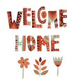 home decoration poster vector image