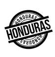 honduras rubber stamp vector image