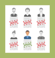 Human Resource and Resume Flat Simple Icons vector image vector image