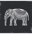 Indian Hand Drawn Elephant Arabic and Jewish vector image vector image