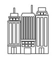 isolated city and buildings design vector image