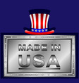 label made in usa vector image vector image