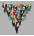 leadership concept People follow the leader vector image vector image