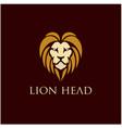 lion head logo design inspiration vector image vector image