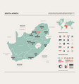 map south africa rsa country map with division vector image vector image