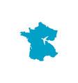 modern france business and travel logo design vector image vector image