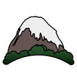 mountain peak with snow vector image vector image