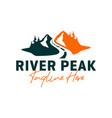 mountain road inspiration logo design vector image