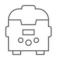 multicooker thin line icon kitchen and household vector image