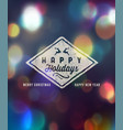 new year greeting design vector image vector image