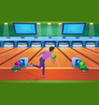 play bowling game flat vector image