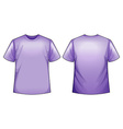 Purple shirt vector image