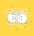 quick tips badge with do it speech bubble trendy vector image