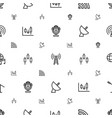 radio icons pattern seamless white background vector image vector image