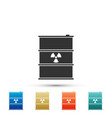 radioactive waste in barrel icon isolated vector image vector image