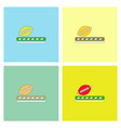 ragby ball icon set vector image vector image