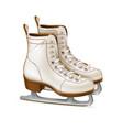 realistic figure skates vintage ice skates vector image
