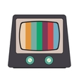 retro classic tv and colored stripes on screen vector image vector image