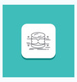 round button for database data architecture vector image