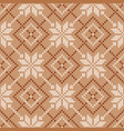 scandinavian knitted seamless pattern winter vector image