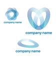 set abstract template logo design vector image