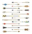 set arrow types for archer vector image