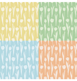 Set of seamless patterns with tulips vector image vector image