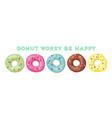 set sweet donuts vector image