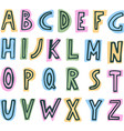 simple colorful kids abc alphabet vector image