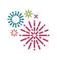 simple firework background vector image