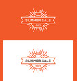 summer sale banner label or tag design vector image vector image