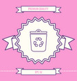 trash can recycle bin symbol icon graphic vector image