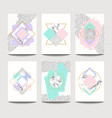 trendy brochure templates with flat geometry vector image vector image