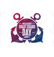 united states coast guard day august 4 holiday vector image vector image