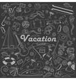 Vacation line art design vector image vector image