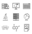volume icons set outline style vector image vector image