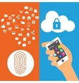 wearable technology security cloud information vector image