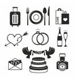 Wedding set icon vector image vector image
