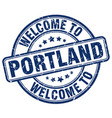 welcome to portland vector image vector image
