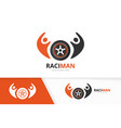 wheel and people logo combination tire and vector image vector image