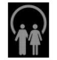 white halftone marriage icon vector image
