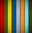 Wooden fence painted in different colors vector image vector image