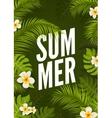 Summer tropic poster design Floral nature jungle vector image