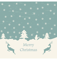 Christmas card retro eps10 vector image
